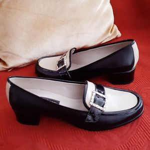 NWOB^Brighton* Adele camel patent loafers S7